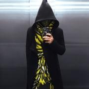 Black wizard robe image 4