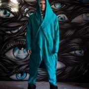 Acid blue assassin robe image 6