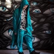 Acid blue assassin robe image 3