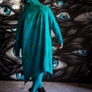 Acid blue assassin robe image 4