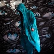 Acid blue assassin robe image 5