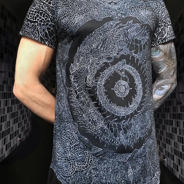 Black ouroboros t-shirt