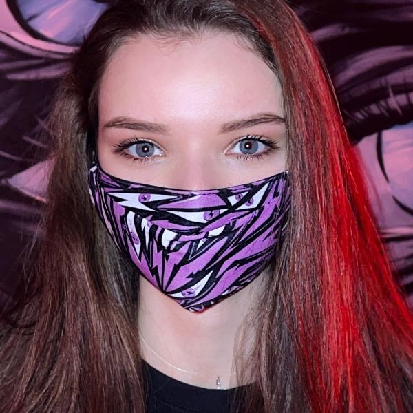 Big bilayer Tesla pink mask