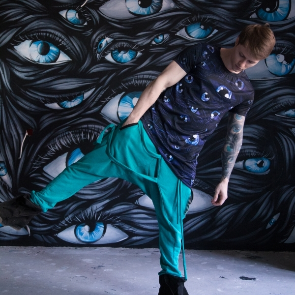 Acid blue assassin pants